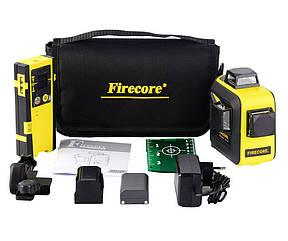 ☀ЗЕЛЕНИЙ ПРОМІНЬ⇒50м☀Лазерний рівень Firecore F93T XG + ПРИЙМАЧ ДО 150 МЕТРІВ