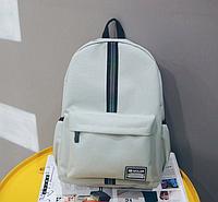 Рюкзак с полосой серый, рюкзаки женские, женский рюкзак, жіночі рюкзаки, жіночий рюкзак
