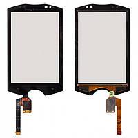Touchscreen (сенсорный экран) для Sony Ericsson WT19, черный, оригинал