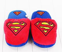 Тапочки Superman , Супермен, тапочки игрушки, тапочки кигуруми, тапочки для дома, тапочки іграшки, тапочки кигуруми, тапочки для дому