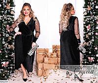 Нарядное красивое платье размеры 50-60 арт 1506