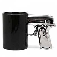 Чашка Пистолет с серебряной ручкой, Чашка Пістолет з срібною ручкою, Оригинальные чашки и кружки
