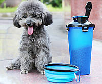Туристический контейнер с миской для животных, Туристичний контейнер з мискою для тварин, Зоотовары