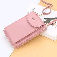 Кошелёк женский, мини-сумочка на плечо Baellerry 3 в 1 (розовый), Гаманець жіночий, міні-сумка на плече Baellerry 3 в 1 (рожевий), Женские кошельки