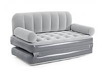 Надувной диван трансформер Bestway Велюр 75079, 188-152-64 см, со встроенным электронасосом