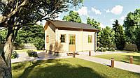 Дом деревянный двухуровневый с мансардой из профилированного бруса 5,4х3,0 м. Скидка на домокомплекты на 2020