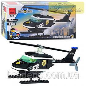 Конструктор BRICK Полицейский вертолет 123