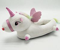 Женские тапочки-игрушки Единороги,35-38, тапочки игрушки, тапочки кигуруми, тапочки для дома, тапочки іграшки, тапочки кигуруми, тапочки для дому