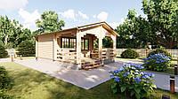 Дом из профилированного бруса с верандой 5.0х7.0. Скидка на домокомплекты на 2020 год