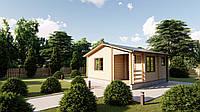 Дом из профилированного бруса с верандой 6.0х6.0. Скидка на домокомплекты на 2020 год