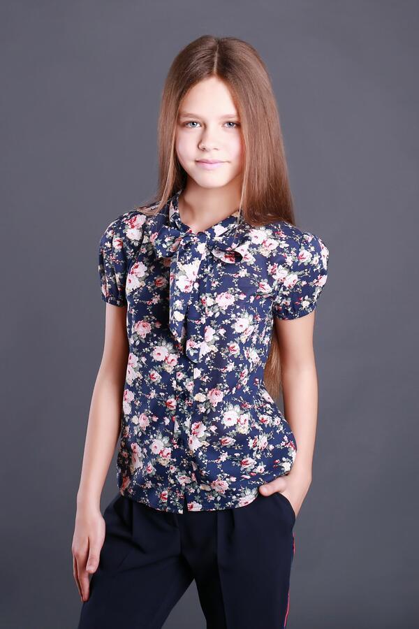 Цветная блузка с коротким рукавом тм Моне р-р 152