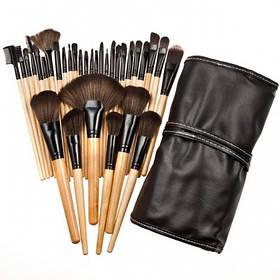 Набор кистей для макияжа MAKE UP FOR YOU 32 штуки + чехол (10008)