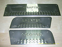 Тюнинг порогов VW Crafter (Carmos, сталь, 3шт.)