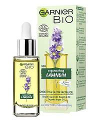 Новинки  Масло для лица Garnier Bio Lavandin Smooth & Glow Facial Oil с эфирным маслом лавандина, 30 мл