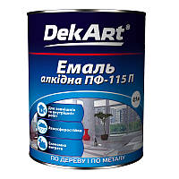Эмаль алкидная ПФ-115П TM Dekart 0.9 кг (Вишневая)