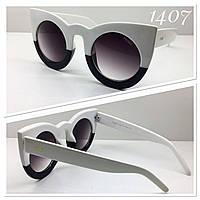 Солнцезащитные очки Fendi в двухцветной оправе черно- белой (JH17103)