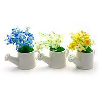 Цветы в лейке (15х13,5х7,5 см)