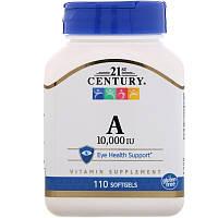 21st Century Витамин A  10, 000 МЕ 110 гелевых капсул