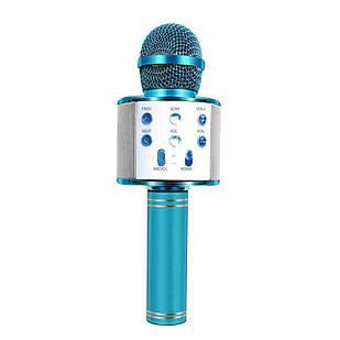 Беспроводной караоке микрофон Wster WS 858 Голубой (114)