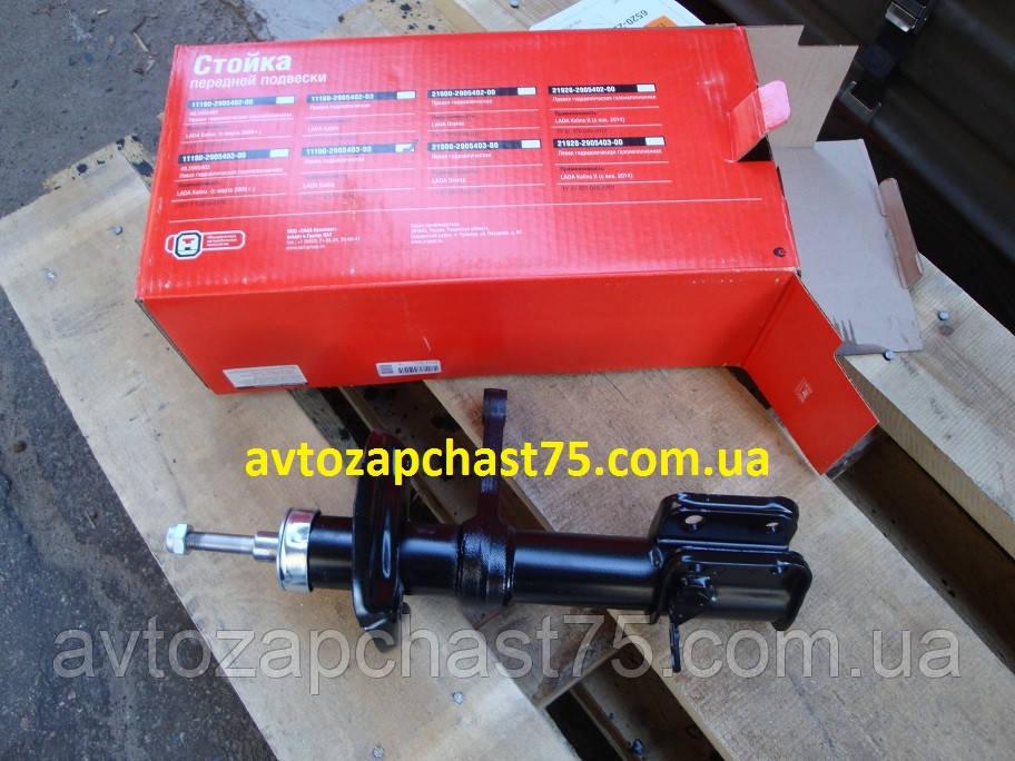 Стойка (амортизатор) Ваз 1119 передняя левая, масляная (СААЗ, Скопин, Россия)