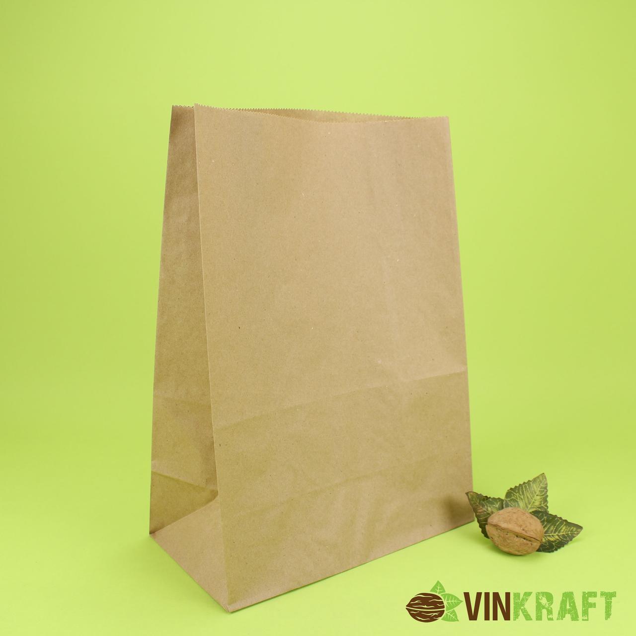Паперовий пакет з дном 230*120*290 (80 г/м2), крафт