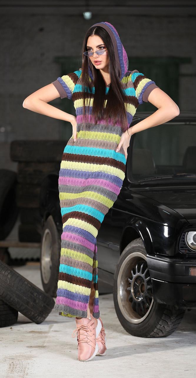 Платье DOGGI-3628 белорусский трикотаж, разноцвет, 42