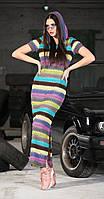 Платье DOGGI-3628 белорусский трикотаж, разноцвет, 42, фото 1