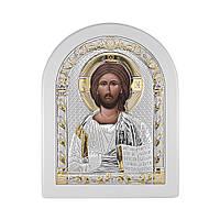 Икона Спаситель из серебра на деревянной основе 000137824 000137824
