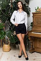 Чёрные женские шорты из микровельвета, фото 1