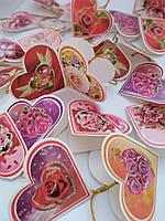 Набор открыток ко Дню Святого Валентина  6*5 см 240 шт