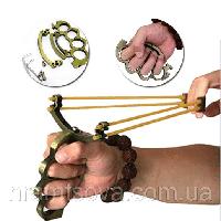 Рогатка с рукояткой кастетом.