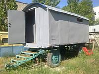 Аренда вагончика строительного на колесах