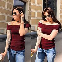 Женская вязаная кофточка с открытыми плечами Ева, фото 1