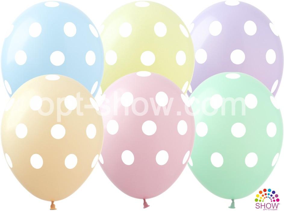 """Латексные шары 12"""" (30 см) Горох макарун, 10 шт"""