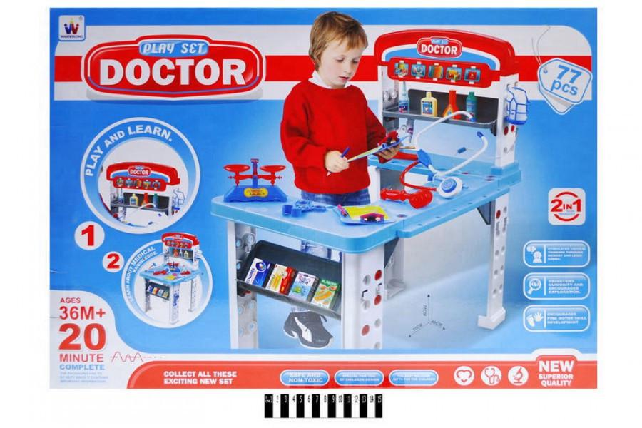 Детский Набор Доктор со столиком W046