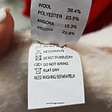 Біле пальто-кардиган з вовни альпаки, фото 3