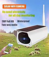 Уличная WiFi IP камера Wanscam K55 2 Mp солнечная панель 4X зум, фото 1