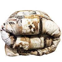 Одеяло Главтекстиль шерстяное размер евро 195*210 бежевое