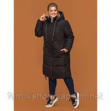 Женское зимнее пальто  спортивного стиля, фото 3
