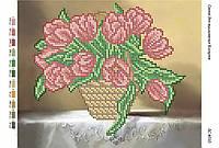 """Схема для частичной вышивки бисером """"Натюрморт Тюльпаны  (Час.  Выш)"""""""
