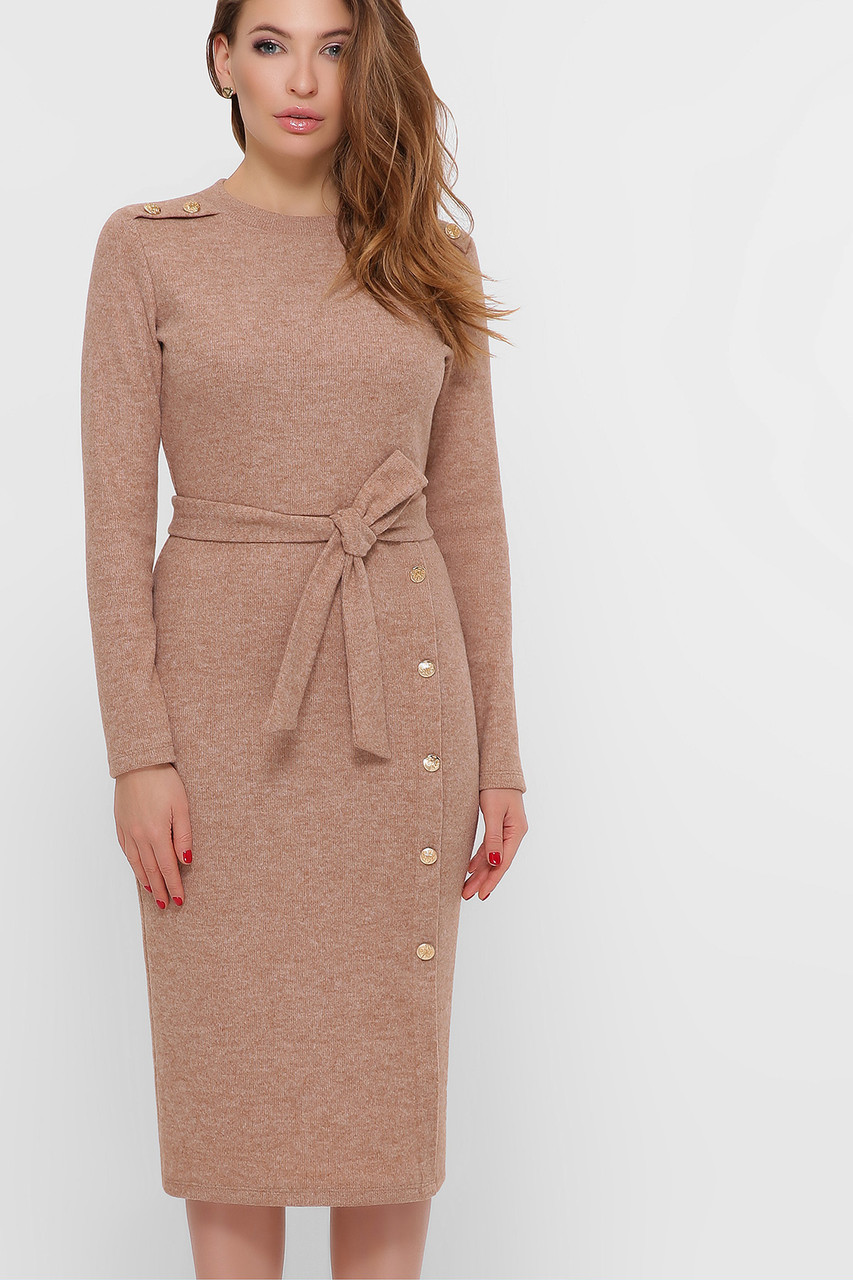 Теплое шерстяное платье футляр