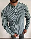 Мужские рубашки воротник стойка пр-во Турция О Д, фото 3