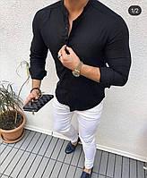 Мужские рубашки воротник стойка пр-во Турция О Д