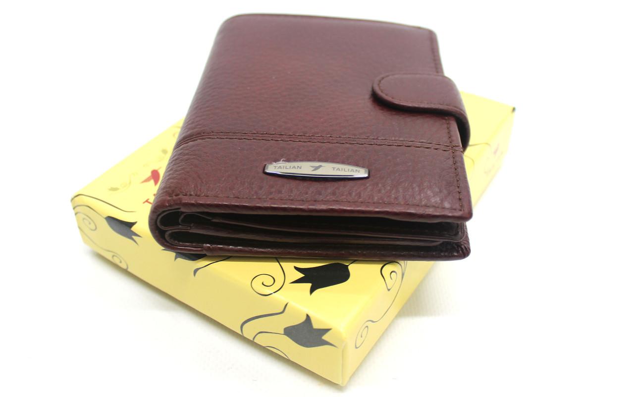 Мужской кожаный кошелек Tailian YR T265
