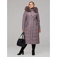 Пальто жіноче зимове з натуральним хутром №115