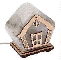 Соляной светильник Дом маленький окно