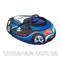"""Детский тюбинг в форме машины D-100 """"RacingСars""""(синий), Украина"""