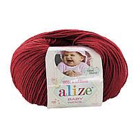 Alize Baby wool  - 106 темно-красный