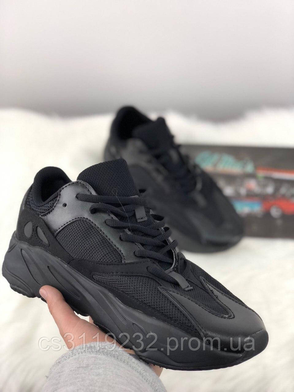 Жіночі кросівки Adidas Yeezy Boost 700 Black (чорні)