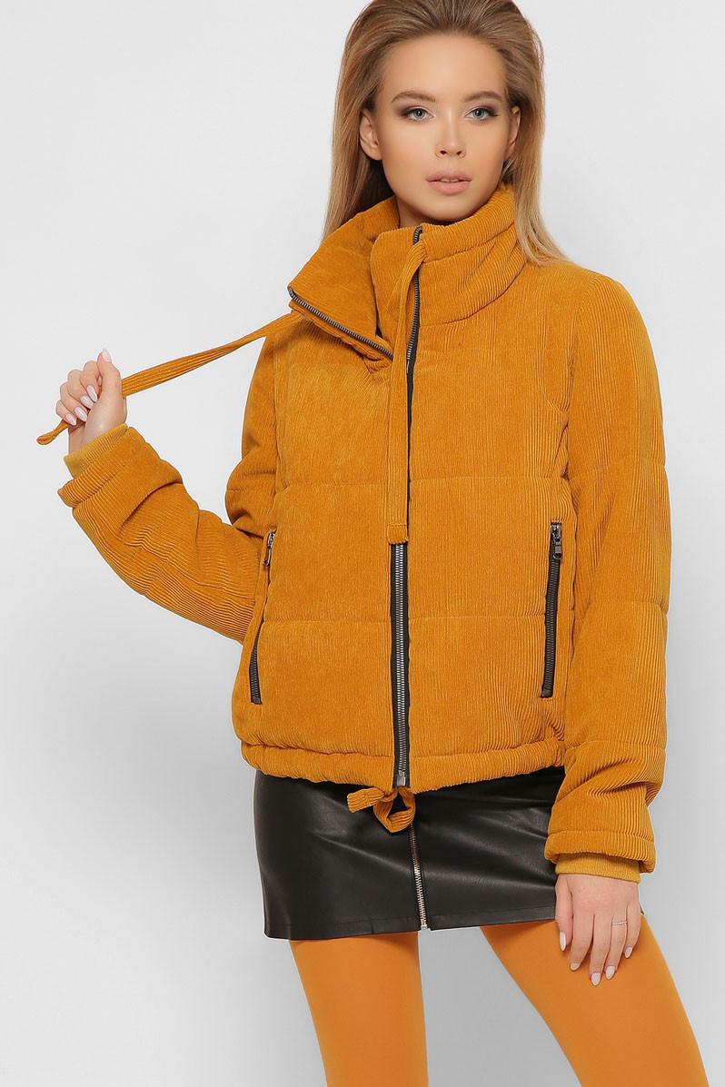 Женская весенняя короткая куртка из вельвета